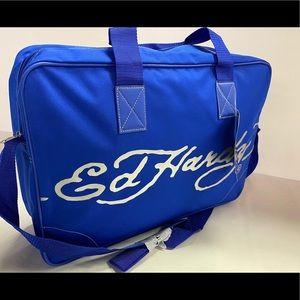 Ed Hardy Bags - ED HARDY MENS BLUE BAG